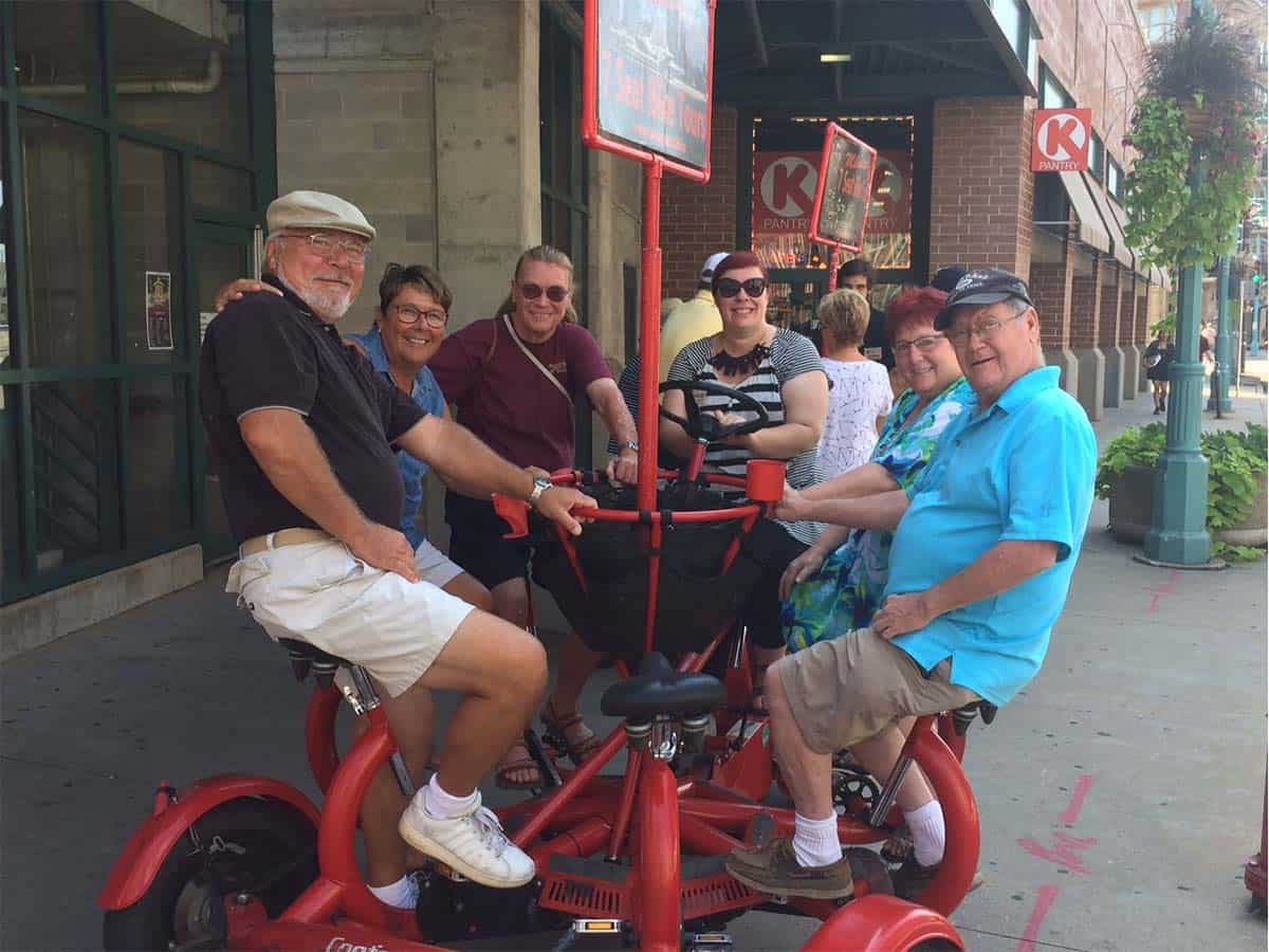 Milwaukee Seven Seat Bike Tours- Food tour at start