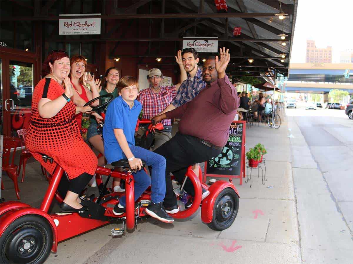 Milwaukee Seven Seat Bike Tours- Red Elephant chocolates
